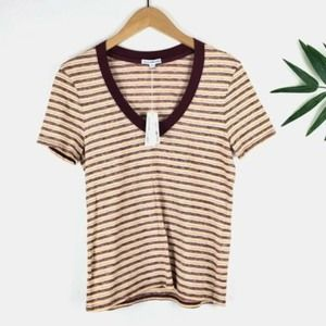 James Perse Striped T-Shirt Size 2